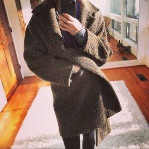 Vintage Huberman wool coat from Ireland
